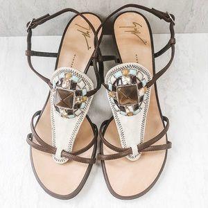 Giuseppe Zanotti Stone Embellished Sandals.
